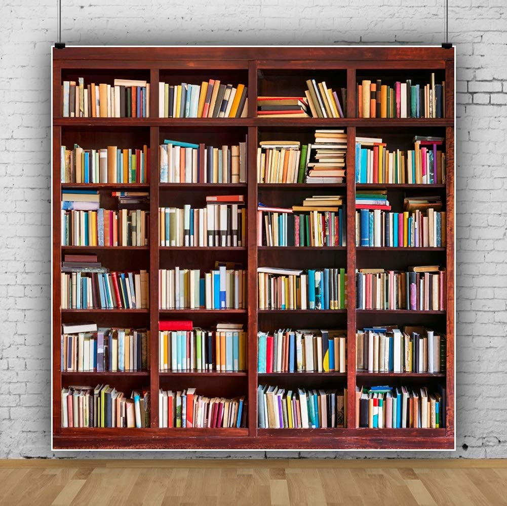 Amazon Com Aofoto 5x7ft Bookshelf Background Bookcase Photography