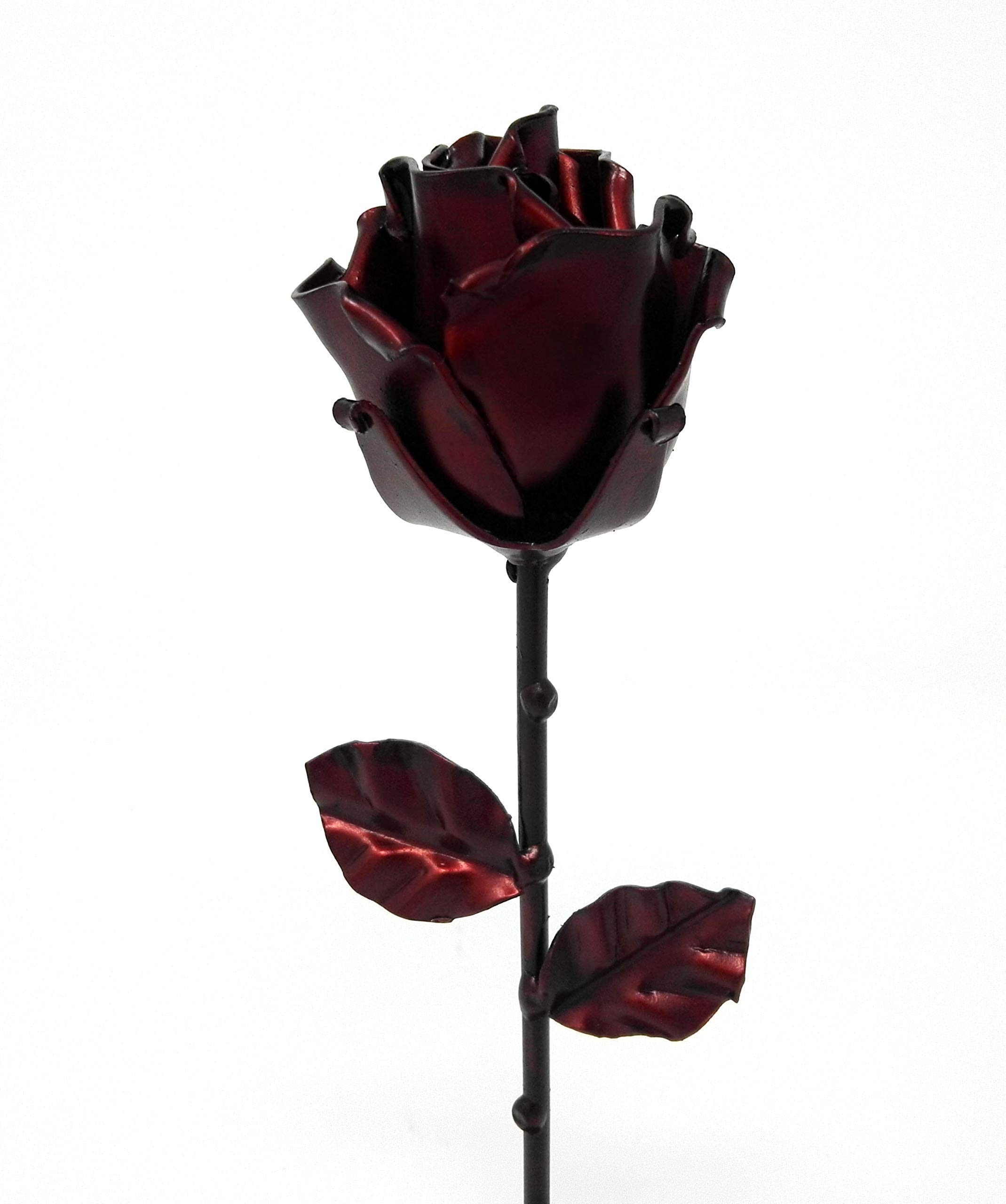 -Eternal-Rose-Hand-Forged-Wrought-Iron-Red-with-BaseIdeal-gift-Valentines-Day-Girlfriend-Mothers-Day-Couple-Marriage-Birthday-Christmas-Wedding-Day-Anniversary