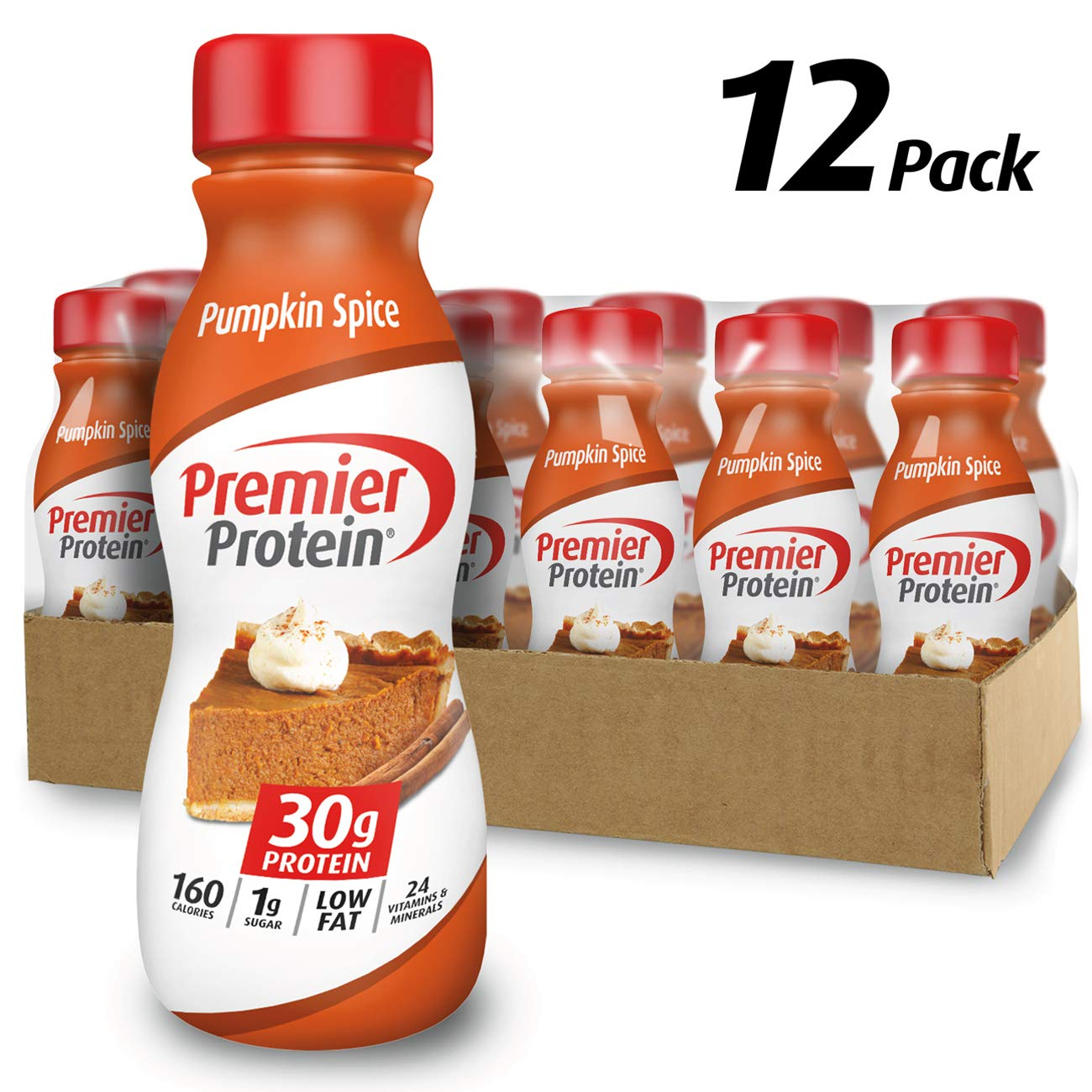Premier Protein 30g Protein Shake, Limited Edition Pumpkin Spice, 11.5 Fl. Oz, 12Count by Premier Protein