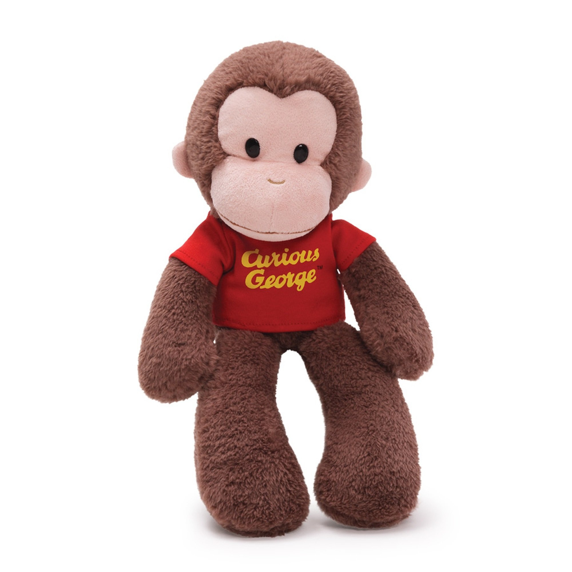 gund curious george take along monkey stuffed animal plush 15