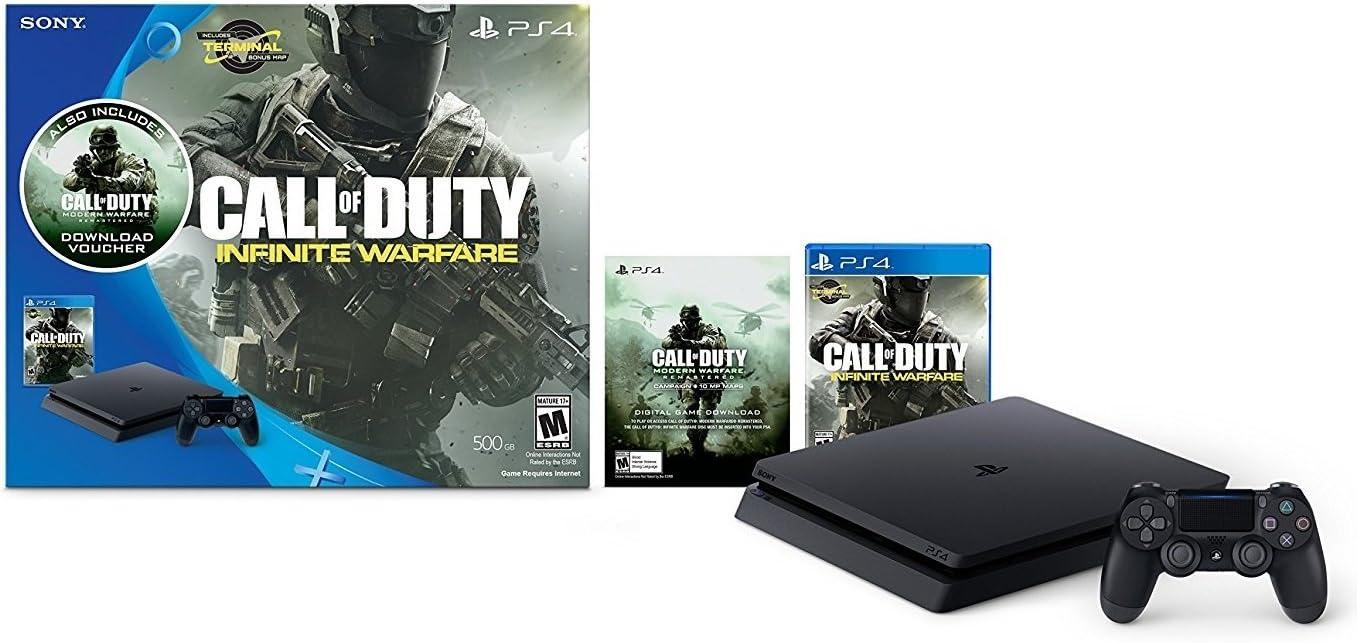 PlayStation 4 Slim 500GB Console - Call of Duty: Infinite Warfare ...