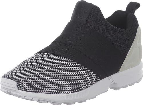 online store 2260a 7dd13 Adidas Originals ZX FLUX SLIP ON Zapatillas Sneakers Negro Gris para Hombre   Amazon.es  Zapatos y complementos