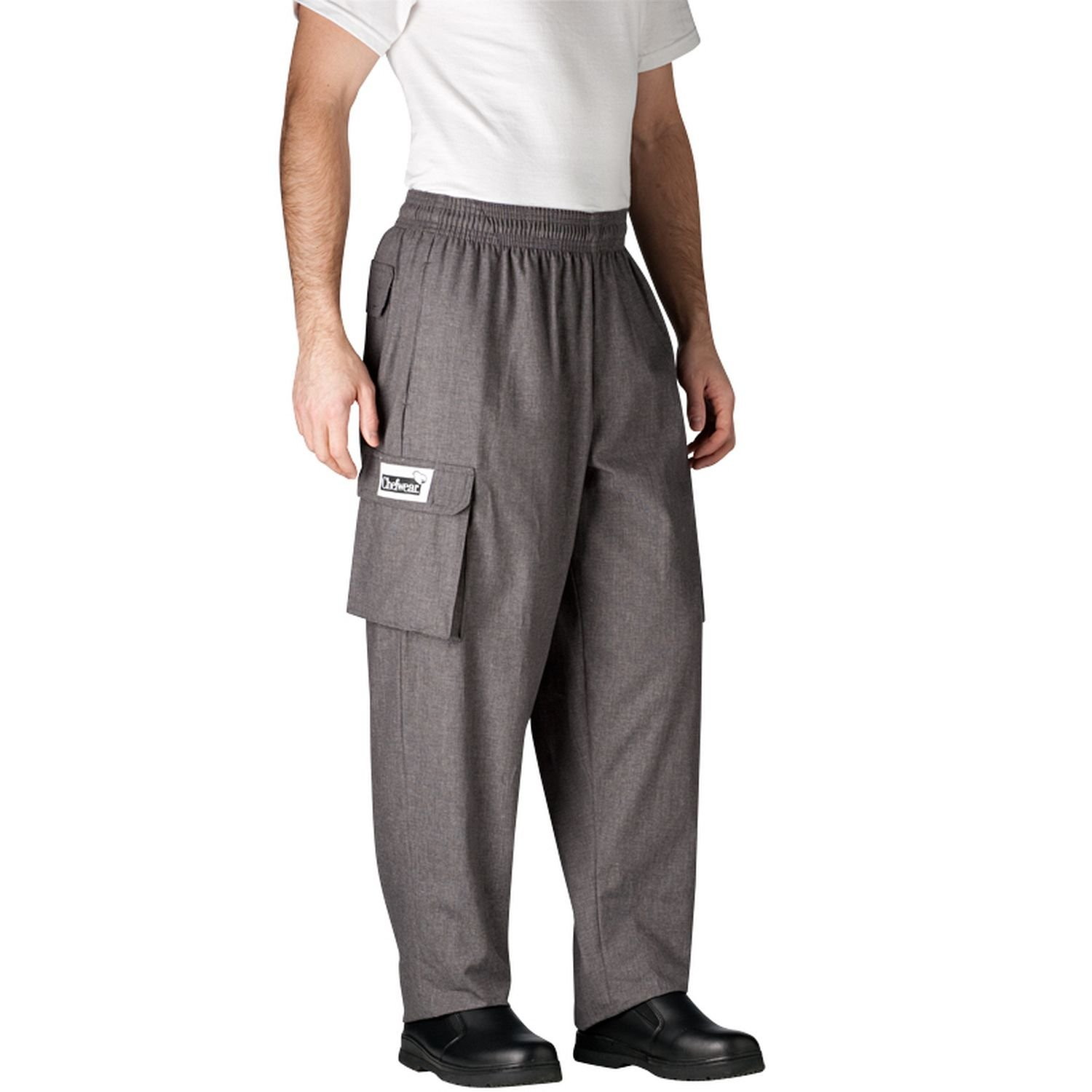 Chefwear Cargo Cotton Chef Pants Charcoal 5XL by Chefwear