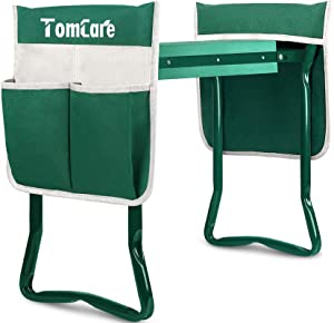 TomCare Upgraded Garden Kneeler Seat Widen Soft Kneeling Pad Garden Tools