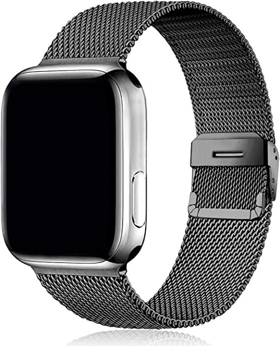 Yigko Sport Band Compatible for Watch 38mm 40mm 42mm 44mm, Durable Stainless Steel Mesh loop Wrist Replacement Strap for Watch Series 6/5/4/3/2/1/SE