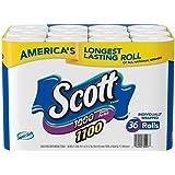 Scott 1100 Unscented Bath Tissue Bonus Pack, 1-ply (36 Rolls)