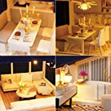 Spilay DIY Miniature Dollhouse Wooden Furniture
