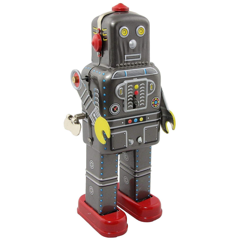 Blechroboter rot Planet Robot Blech Blechspielzeug
