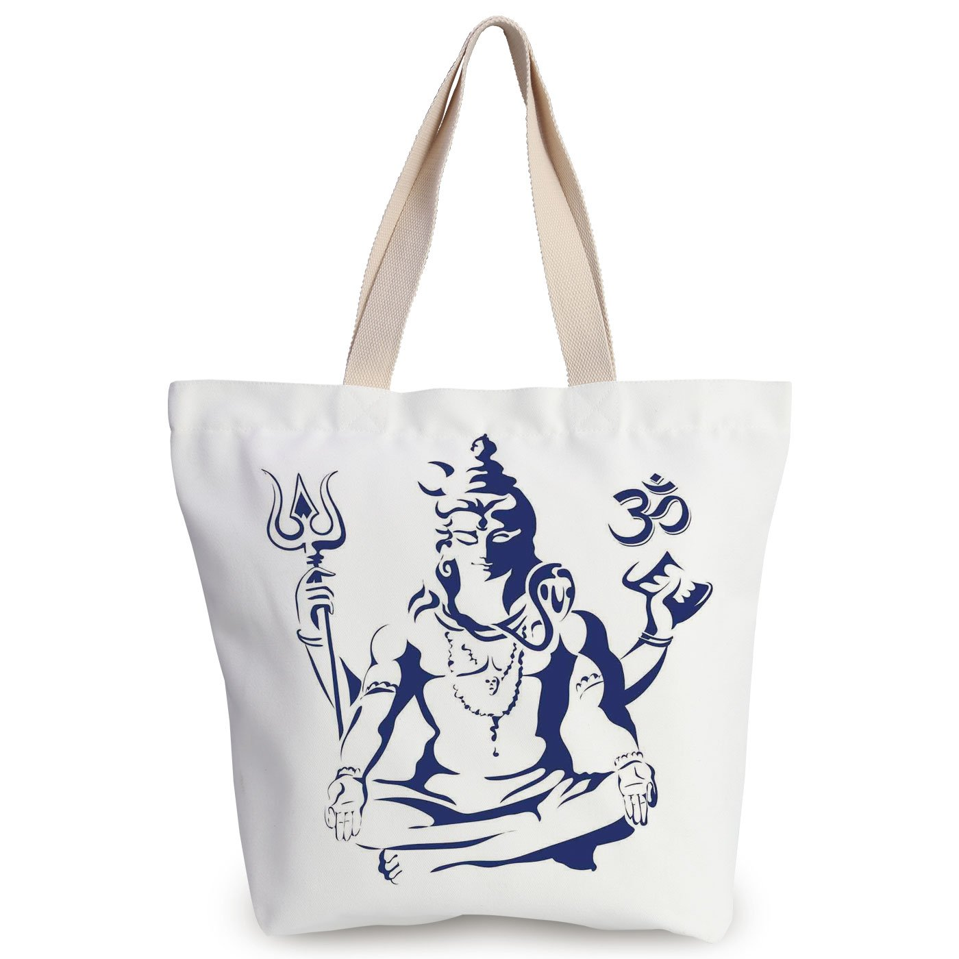 Amazon.com: iPrint Personalized Canvas Tote Bag,Yoga,Eastern ...