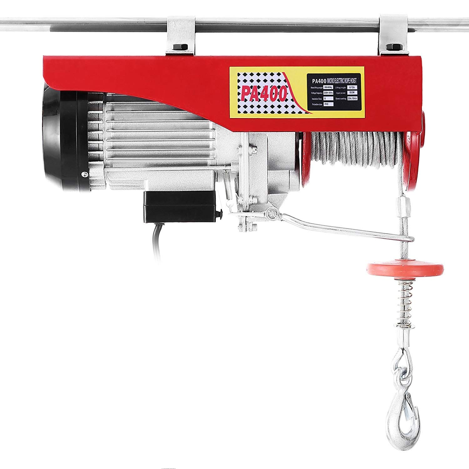 Morffa 600KG lectric Hoist Lift 1320LBS Overhead Electric Hoist Electric Wire Hoist Remote Control Garage Auto Shop Overhead Lift (1320LBS)