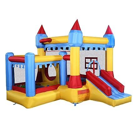 Amazon.com: 10.5 ft inflable castillo rebote Slide House w ...