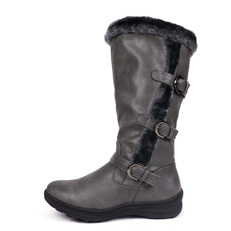 18b794f13c3 DREAM PAIRS Women's Winter Fully Fur Lined Zipper Closure Snow Knee High  Boots (Wide-Calf)