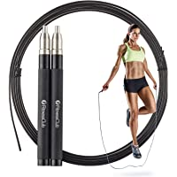 FitnessClub Jump Rope - 3M High Speed Skipping Rope - Ball Bearing Length Adjustable - Self-Locking - for Gym Crossfit WOD MMA Boxing Training Fitness Exercise