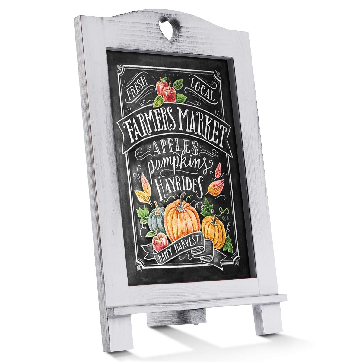 Homemaxs Chalkboard Signs Rustic Magnetic Tabletop Chalk Board 15.7 X 10 with Frame and Hanging String, Easel Countertop Memo Decor Board for Wedding, Kitchen by Homemaxs