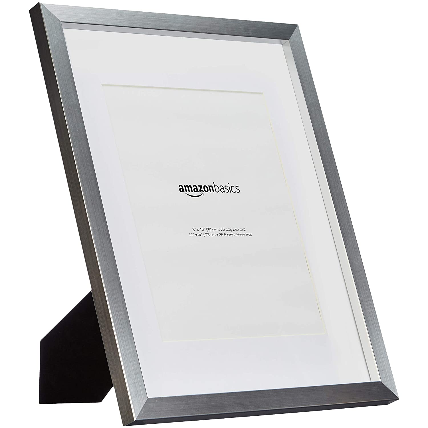 2-Pack 1010893-040-A60 Black Basics Photo Frame with Mat 11 x 14 matted to 8 x 10