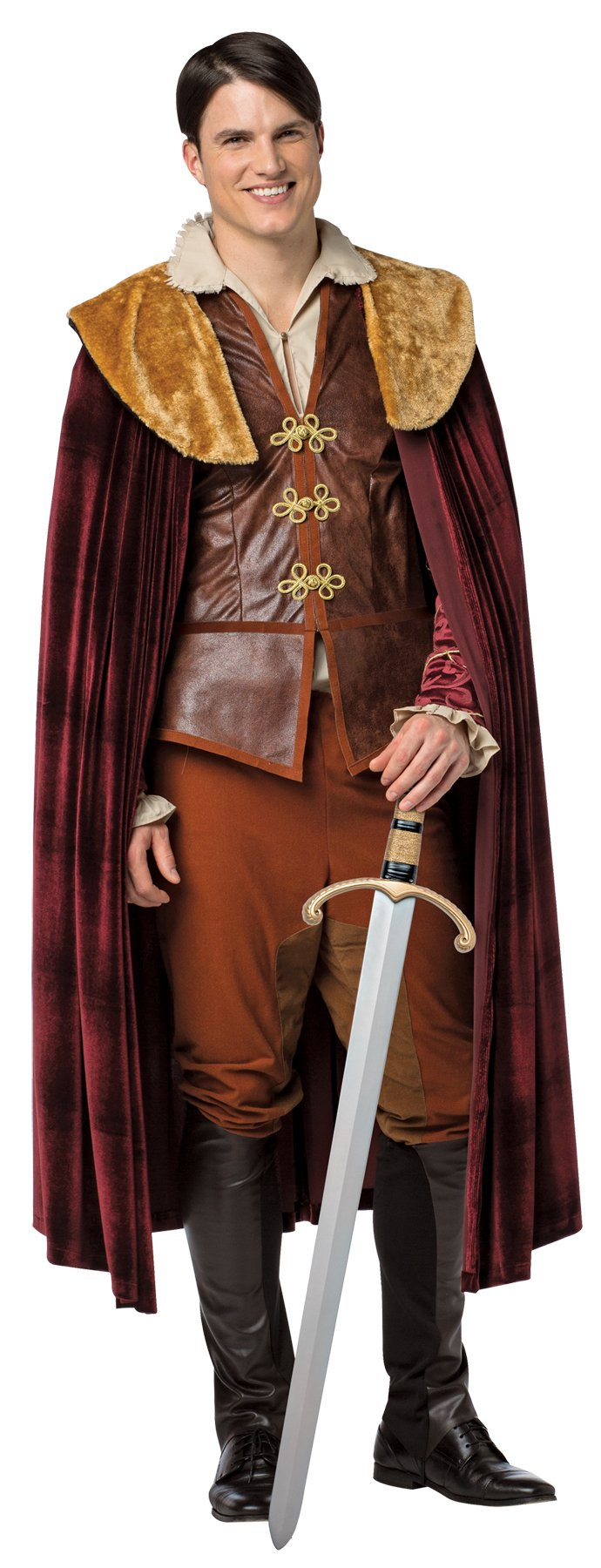 UHC Men's Once Upon A Time Prince Charming Outfit Halloween Fancy Costume, M (38-40)