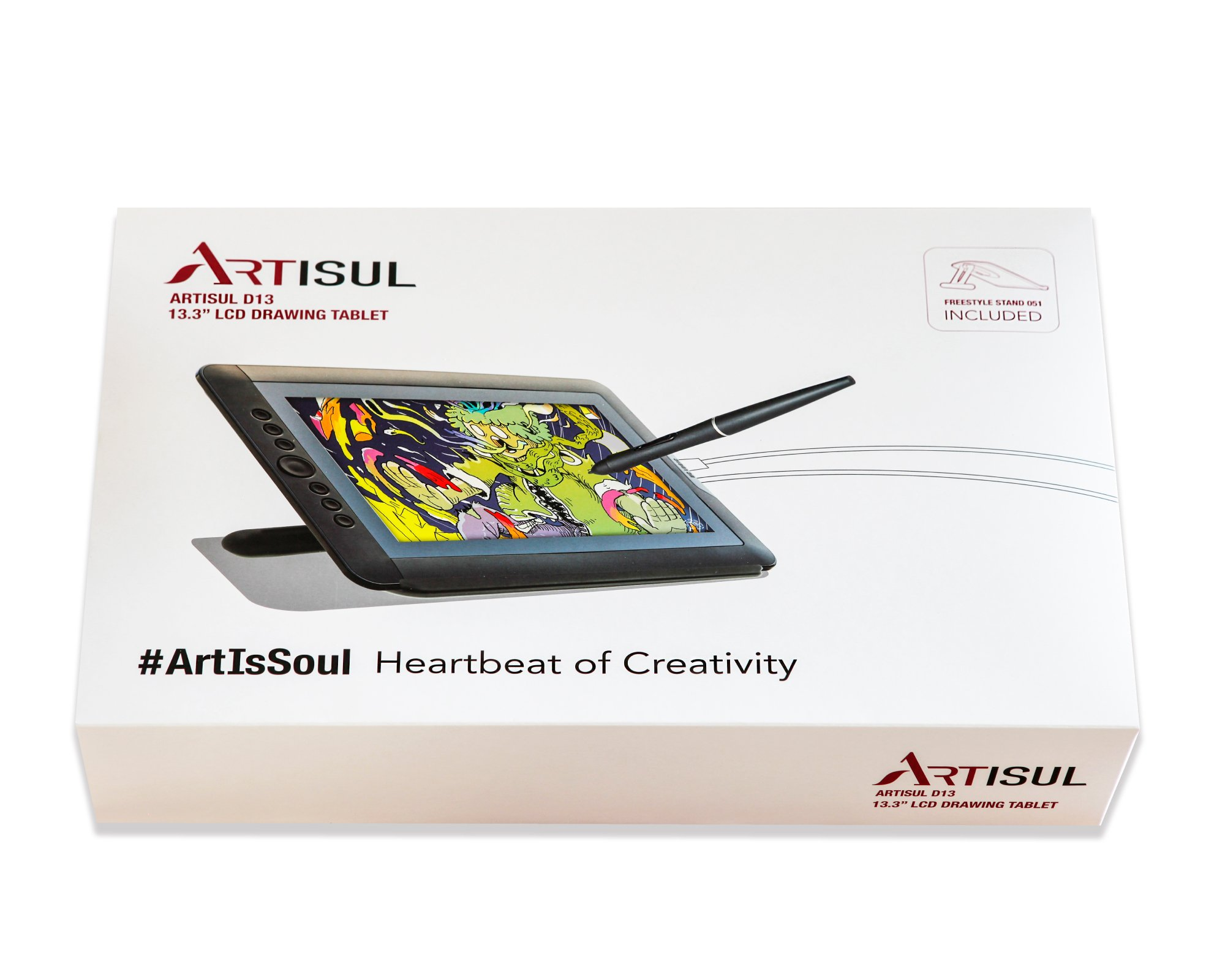 Artisul D13 - 13.3'' LCD Graphics Tablet with Display + Freestyle Stand Bundle