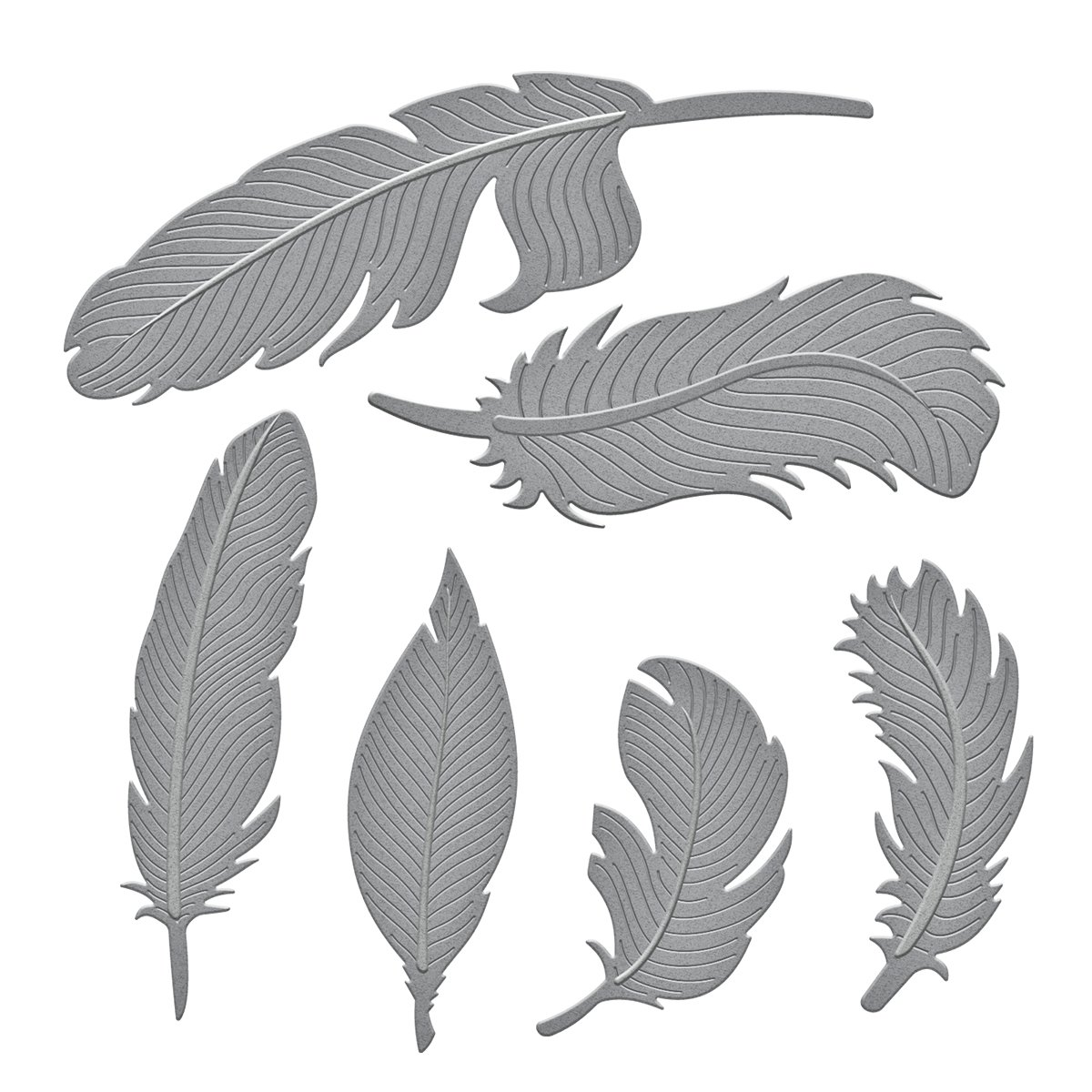 Spellbinders S4-428 Shapeabilities Feathers Etched//Wafer Thin Dies
