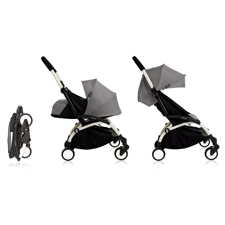 Babyzen YoYo Stroller Bundle Yoyo Stroller, Canopy Newborn Pack Grey