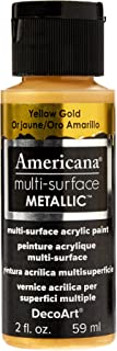 product image for DecoArt Americana Multi-Surface Metallic Paint, 2-Ounce, Yellow Gold