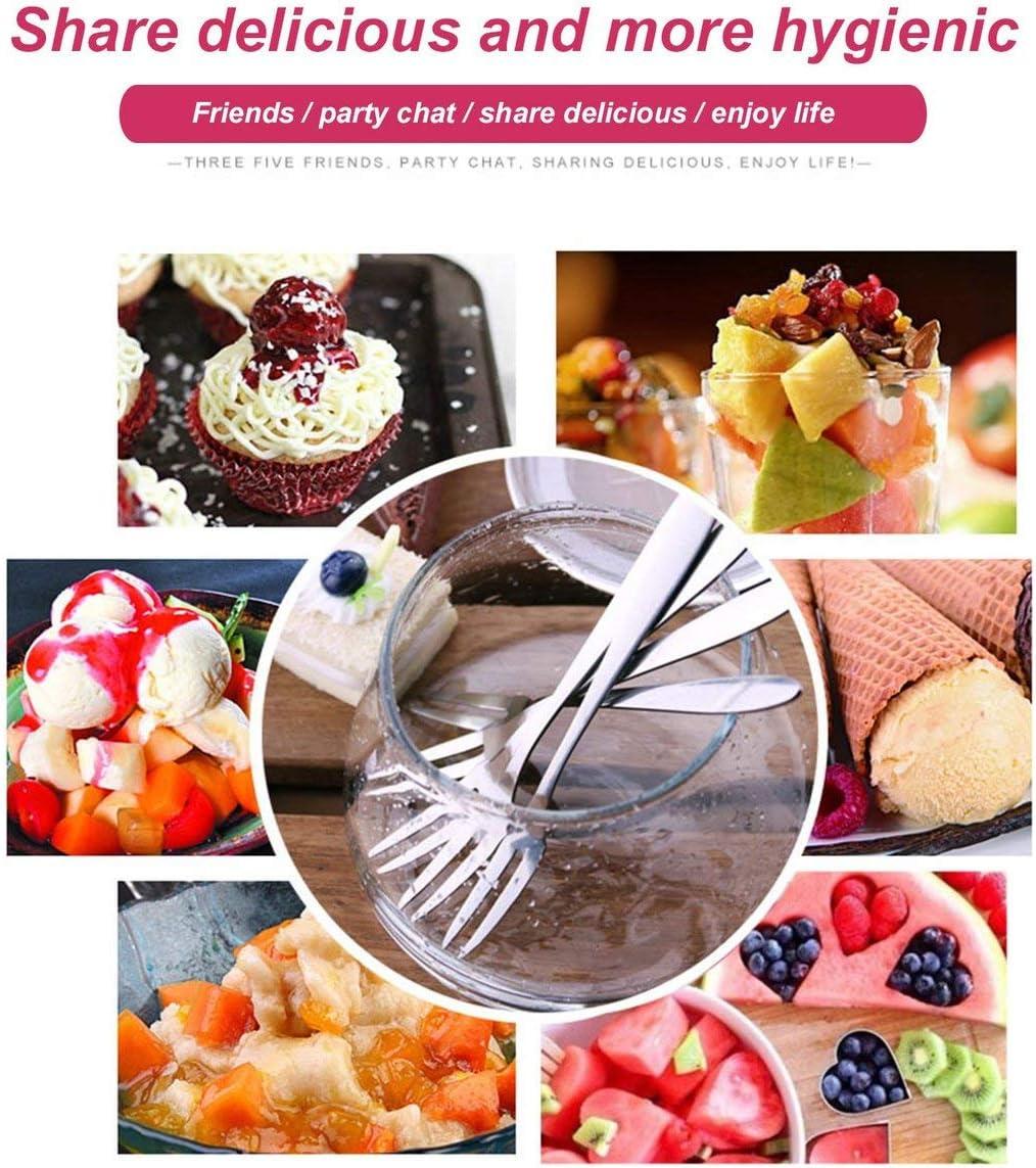 FHJ-5 pcs//ensemble Fruits Fourche Deux Dents Fourchette Dessert Salade G/âteau En Acier Inoxydable De Mode Simple Fourche Restaurant Accueil Cantine H/ôtel Utilisation