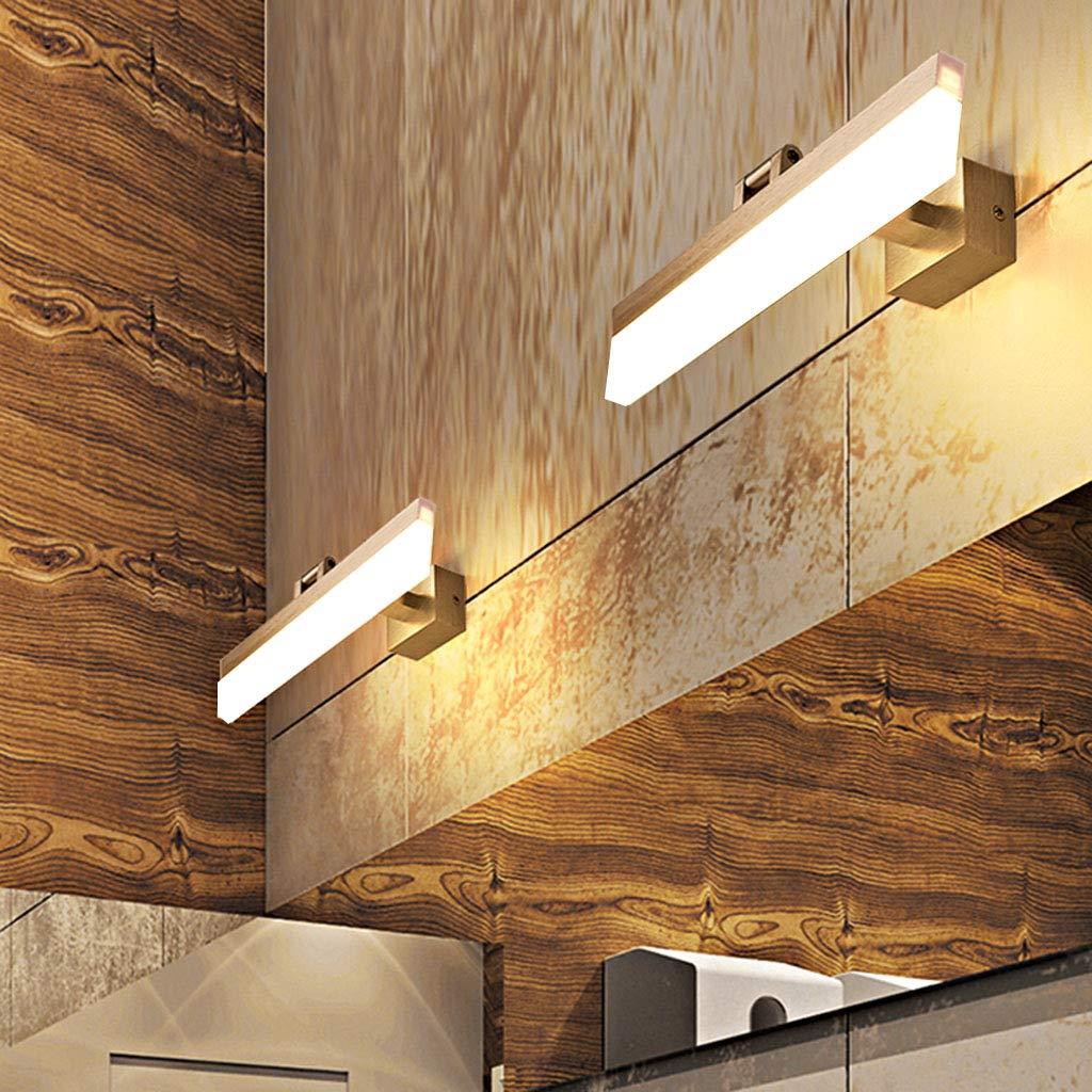 QWM-Badspiegellampe Spiegel Vorderlicht LED Einfache Persönlichkeit Wasserdicht Anti-Fog Anti-Fog Anti-Fog Spiegel Lampe Badezimmer Spiegel Schrank Schlafzimmer Schminktisch Makeup Lampe Silber (Positiv Weiß Licht) (Gr 7449a9