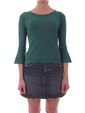 wholesale dealer 89351 90a5a EMME MARELLA Women's 53610795GREEN Green Viscose T-Shirt at ...