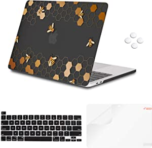 iCasso Case Compatiable with MacBook Pro 16 Inch 2019 Release A2141,Slim Protective Cover with Keyboard Cover & Screen Protector for Newest Mac Pro 16'' with Touch Bar&Touch ID - Honeycomb