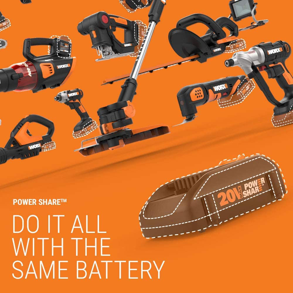 Rotary Tools Battery Hub WORX WX739L.9 MAKERX Rotary Tool Charger ...
