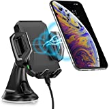 CHOETECH Wireless Car Charger,10W Wireless Car Charging Mount Stand Compatible with Samsung Galaxy S10/S10+/S9/S9+/S8/S8+/Note 9/8r, 7.5W Compatible with iPhone XS/ XS MAX/ XR, iPhone X/8/8 Plus