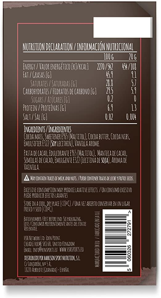 TABLETA CHOCOLATE NEGRO SIN AZÚCAR - 100g: Amazon.es: Salud y ...