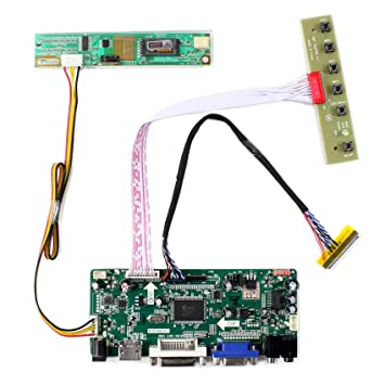 HDMI + VGA + DVI + Tarjeta de regulador del LCD de la entrada de audio para B156XW01 LTN156AT01 15.6