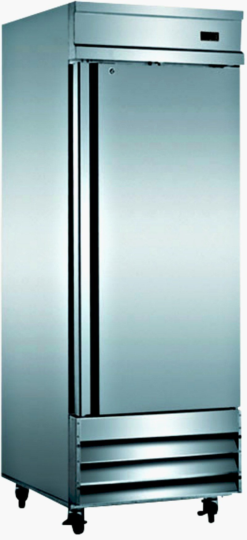 29'' Freezer Single Solid Steel Door Reach-in Commercial Grade Restaurant - 23 Cu. Ft. - Auto Defrost - Digital Control - Adjustable Shelves - Stainless Steel
