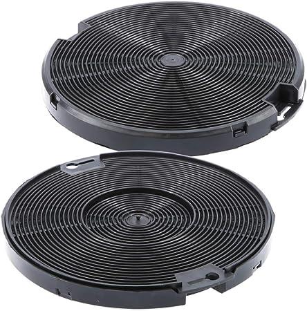 Filtro de carbón activo, 150 mm de diámetro, juego de 2 para campana extractora adecuada como alternativa para filtro de carbón 4055093712, para extractor de humos AEG, Electrolux, Ikea 1 set: Amazon.es: Hogar