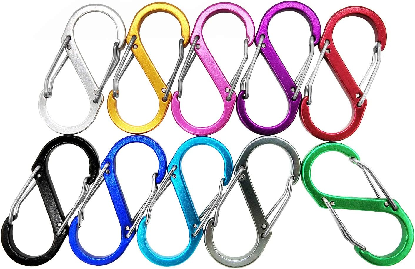 Titanium Alloy Outdoor Camping Carabiner Keychain Hanging Hook Snap Buckle B3H9