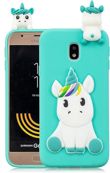 cover samsung j7 2017 silicone unicorno