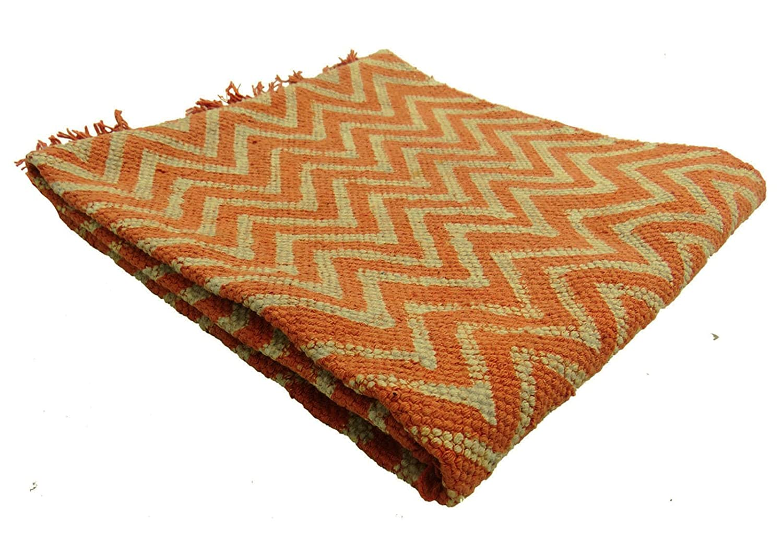 Tappeti In Tessuto Riciclato : Beyondliving tessuto zig zag dari cotone iuta tappeto intrecciato