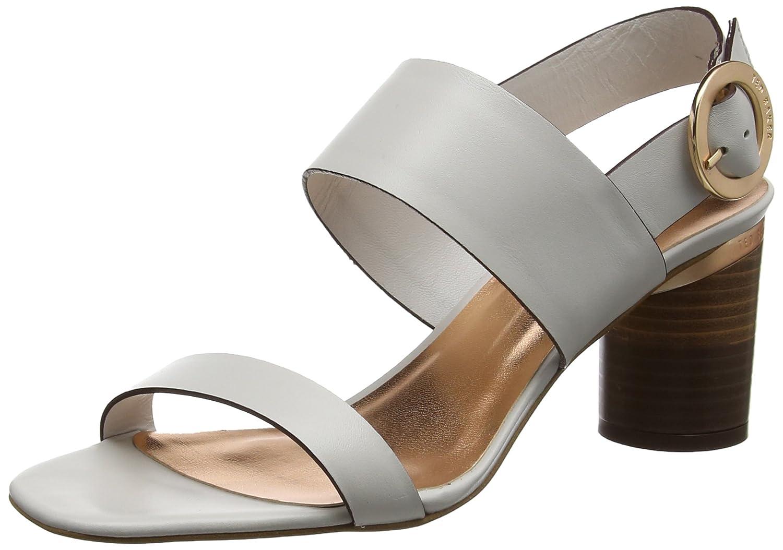 ea741135e Amazon.com  Ted Baker Womens Light Grey Azmara Heel Sandals  Shoes