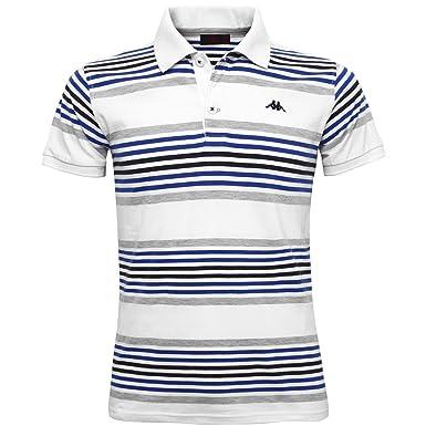 b57ff91ed768 Robe di Kappa Men's Polo Shirt White-Lt Grey Mel XXX-Large: Amazon ...