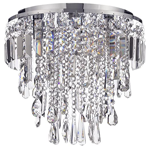 Marquis by waterford bresna led 3 light bathroom flush ceiling light chrome with free