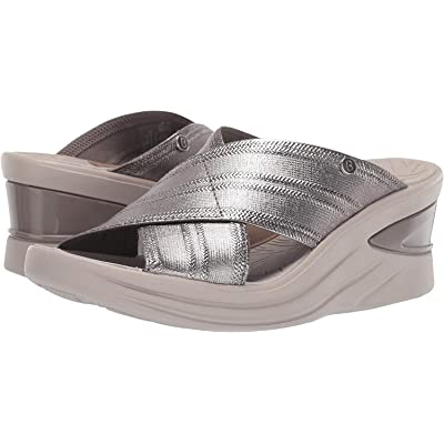 BZees Womens Vista Open Toe Casual Slide Sandals | Platforms & Wedges