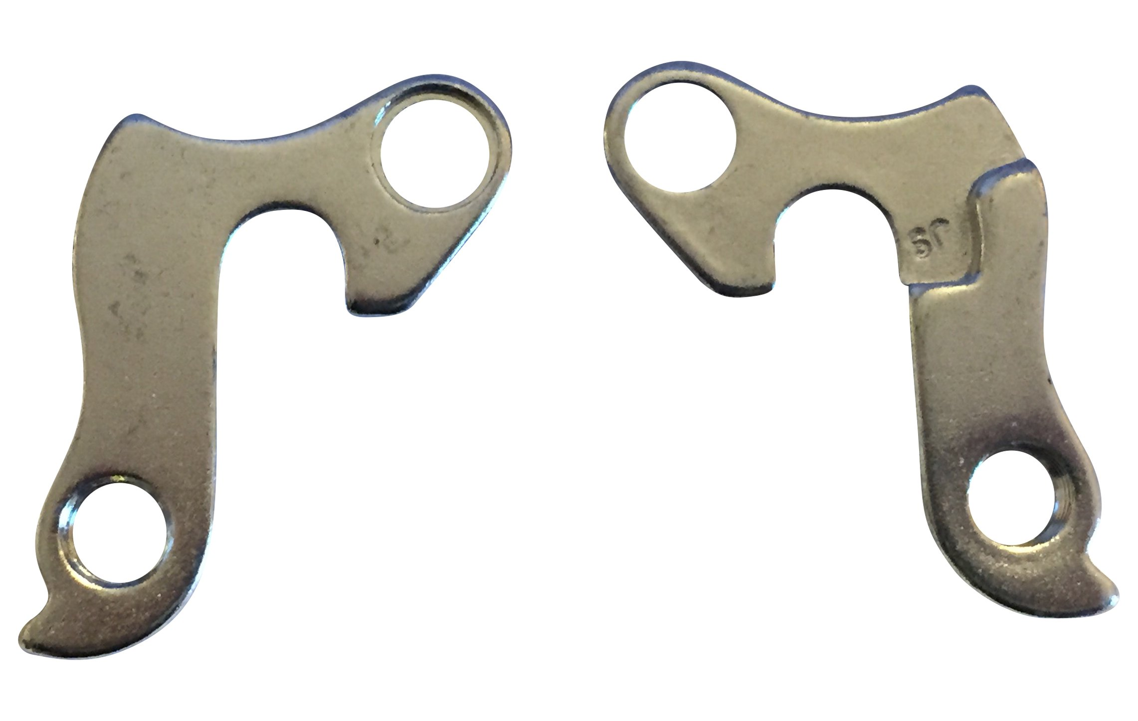 Set of 2 Bicycle Derailleur Hanger 25 with mounting bolts for Schwinn Kona Bianchi Blue BMC Diamondback Cube Raleigh K2 Raleigh Fuji Ghost Haro Marin and more