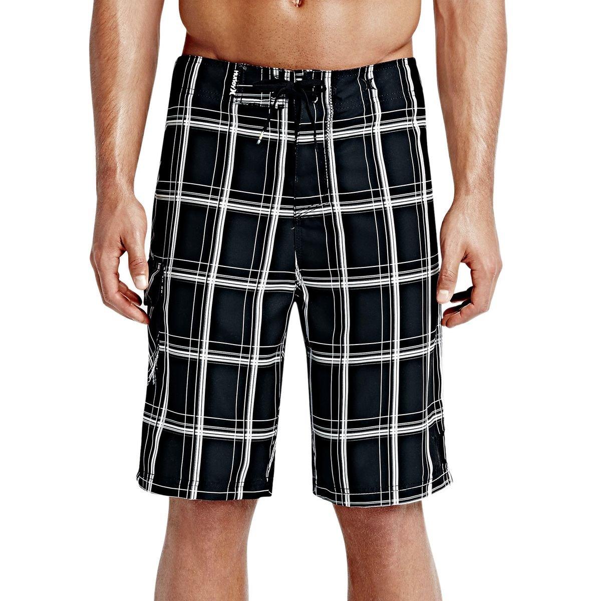 Hurley Men's Puerto Rico Burnout 19'' Boardshorts Black Board Shorts 36