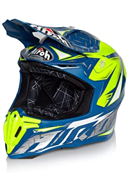 Casco Mx Airoh Twist Iron-Azul (Xl , Azul)
