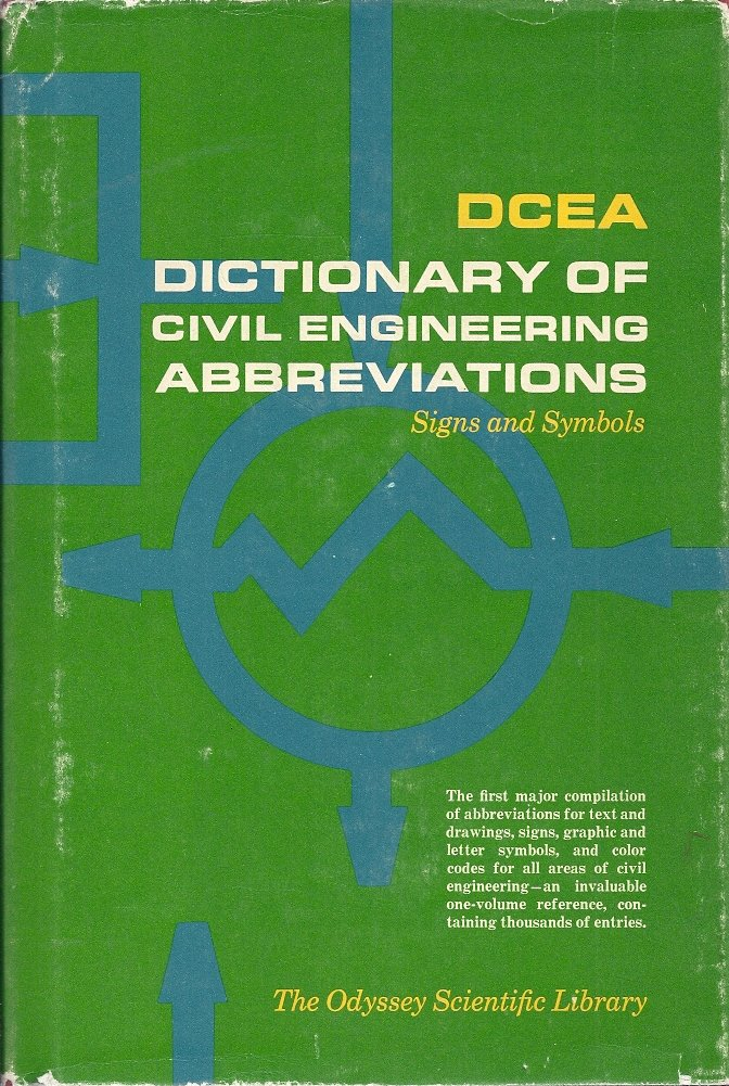 Dcea Dictionary Of Civil Engineering Abbreviations Signs And