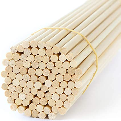Wooden Dowel Rods 6 Inch 14 Hardwood Dowels Craft Dowels For Woodworking Project 50 Pcs For Model Building Games Kids Crafts Handmade Gifts