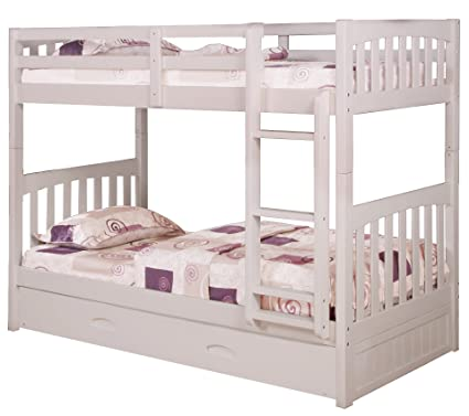 Amazon Com Cambridge 98922tttr Wh Brae Burn Bunk Bed With Slide Out