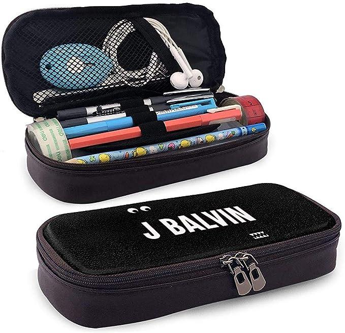 J Balvin Vibras Estuche para lápices Estuche para bolígrafo Estuche para maquillaje Bolsa para escuela Oficina Colegio: Amazon.es: Oficina y papelería
