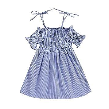 feiXIANG Vestido de niña a Rayas Ropa de bebé niña Ropa niños de ...