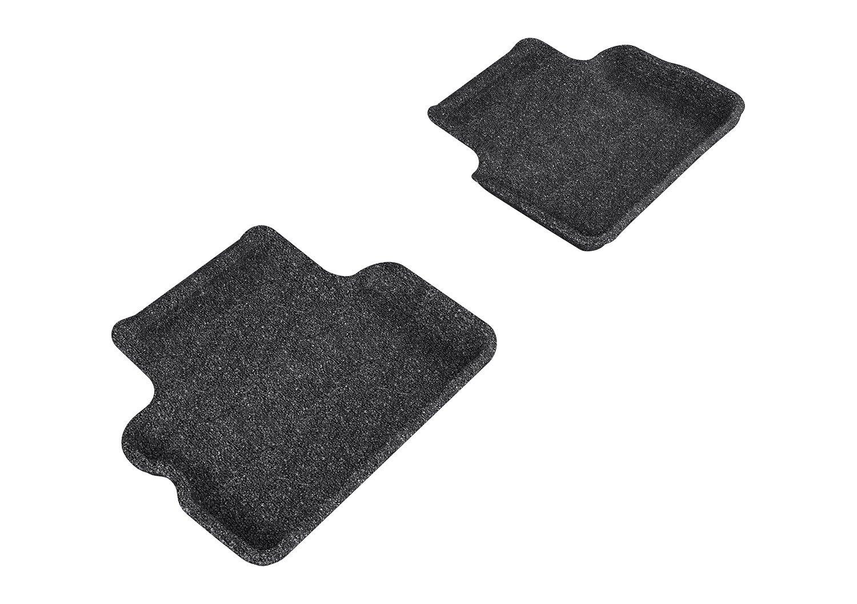 3D MAXpider Second Row Custom Fit Floor Mat for Select Mini Clubman Models Classic Carpet Black L1MN00822209